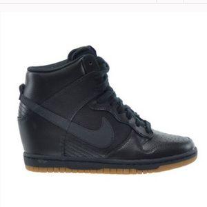 Nike Hi Top Wedge Black And Gum Dunk